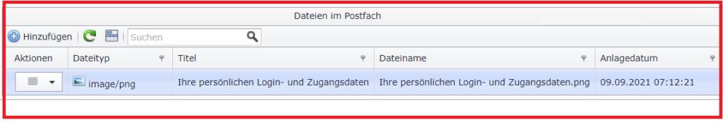 Dateien im Postfach